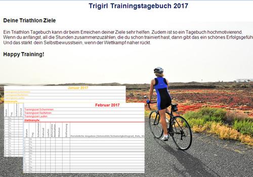 Triathlon Trainingstagebuch 2017